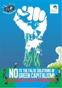 Poster - No to the false solution of green capitalism